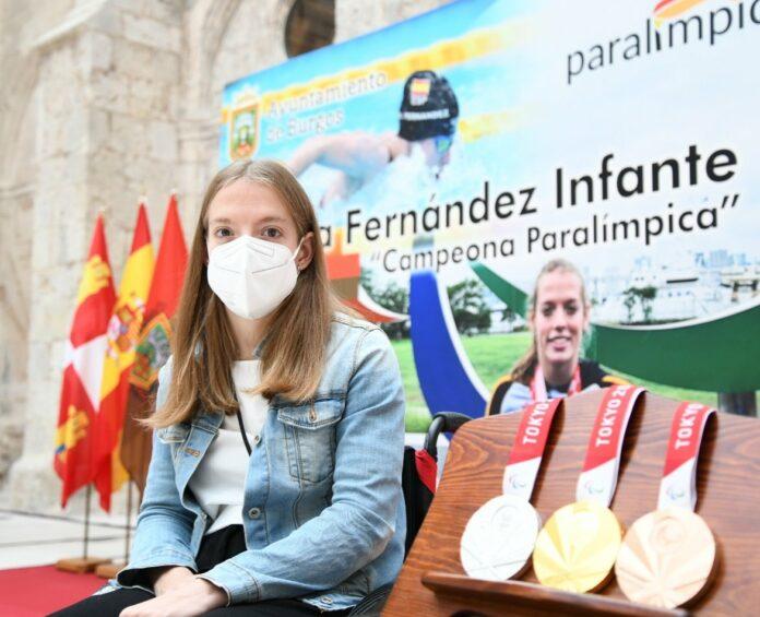 La burgalesa de 27 años Marta Fernández Infante, ha sido homenajeada en Burgos.